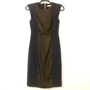 Rebecca Taylor Sheath Dress Size 0 Navy Blue Black